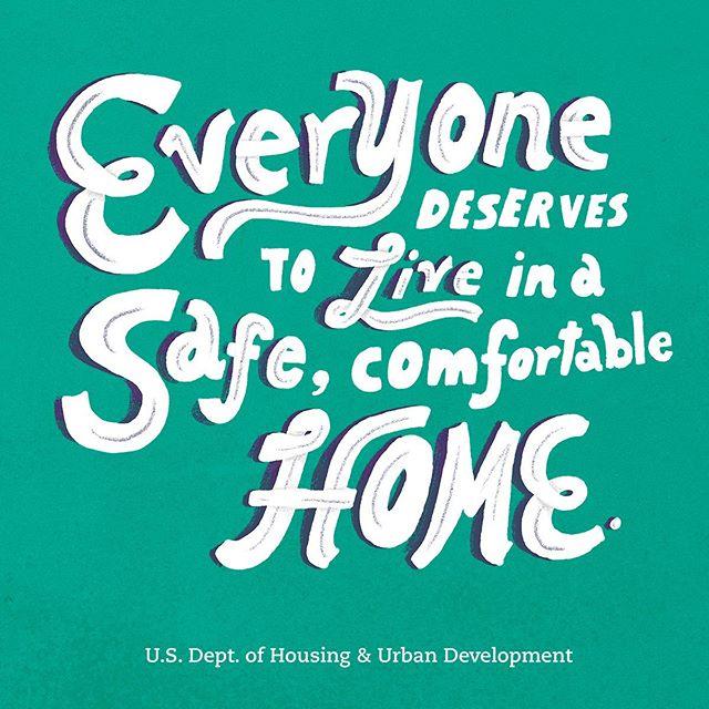 Lettering exploration for Fair Housing month! #equalhousing #lettering #illustration #typography #hud #April