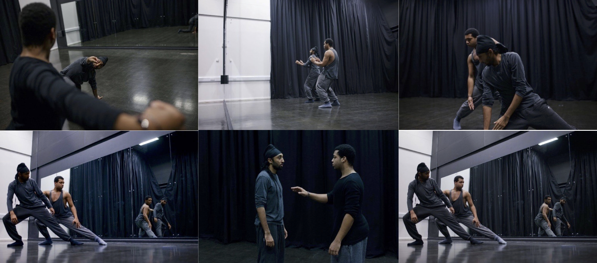 Deepraj working with his company 'Tribe Dance Theatre'