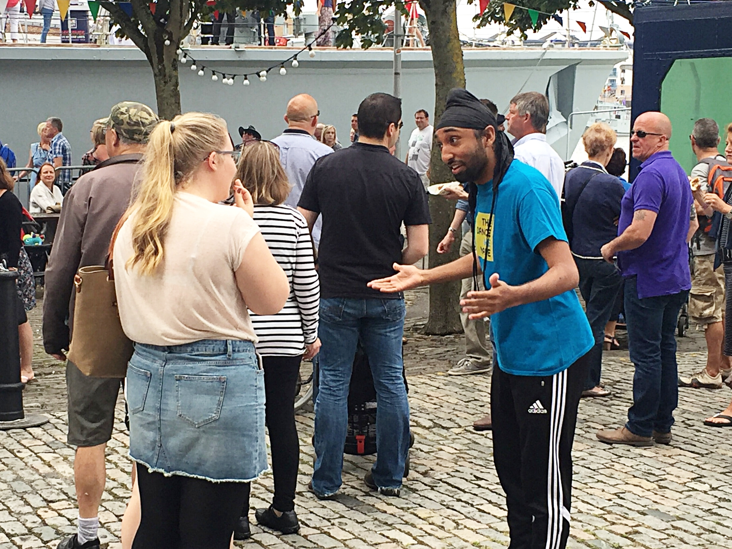 Deeps in action with  The Dance WE Made  in Bristol