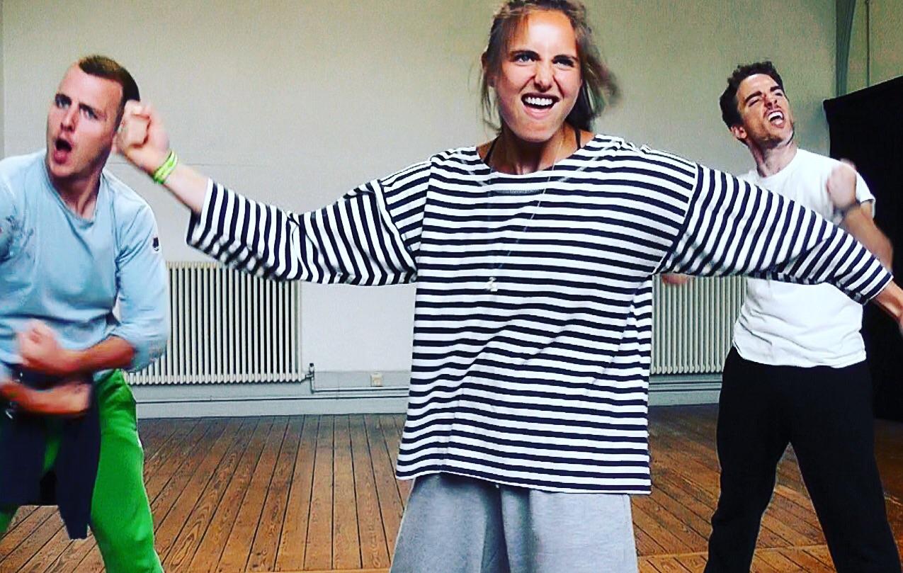 Chloe in rehearsals for 'Choreocracy'
