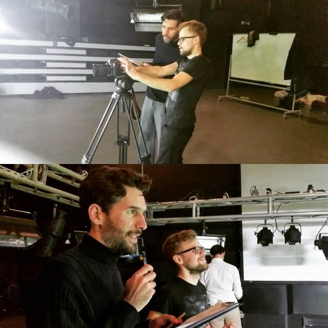 Karolis in Action on Set