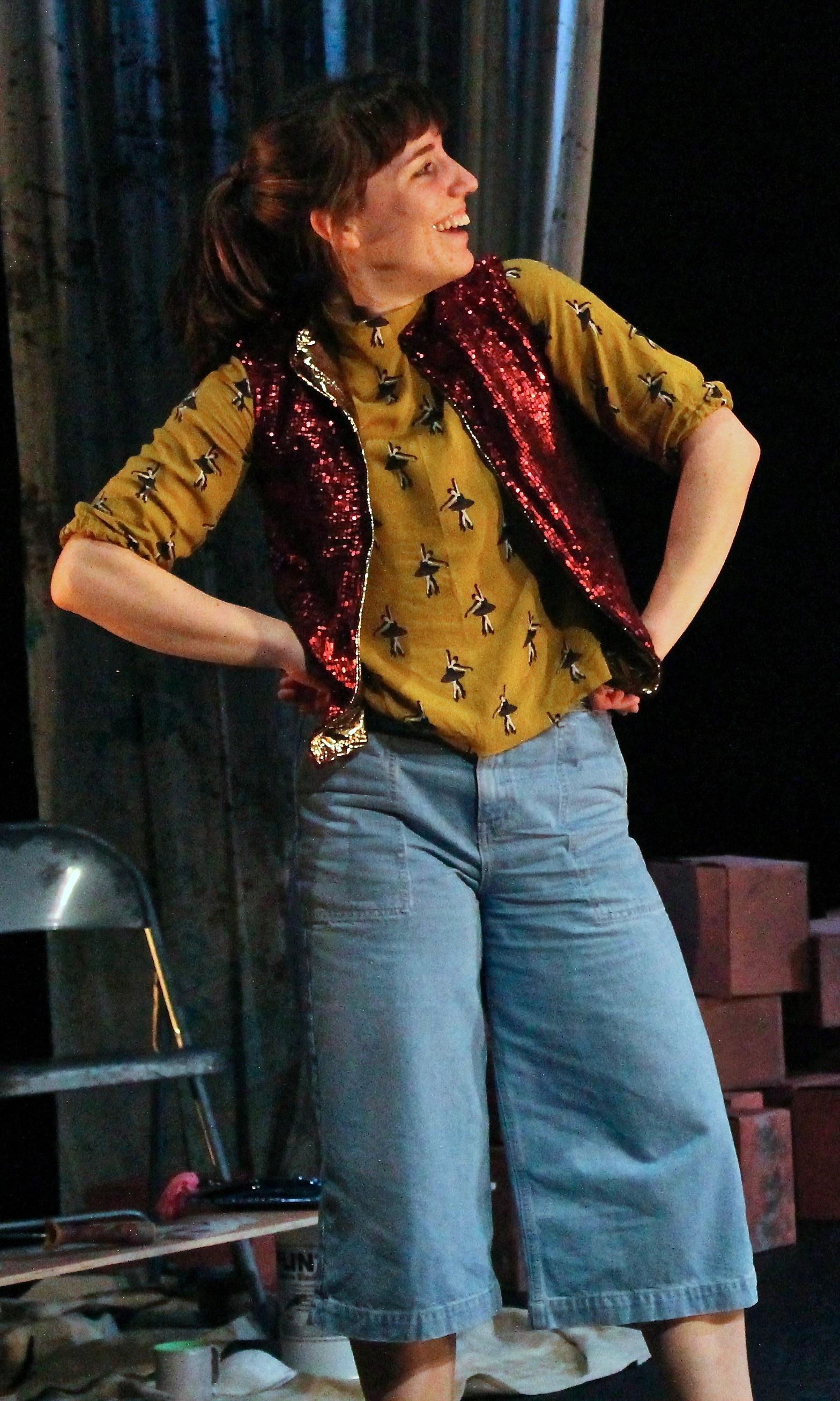 Claire Lambert in Night at the Theatre (Image: Rhiannon Williams)