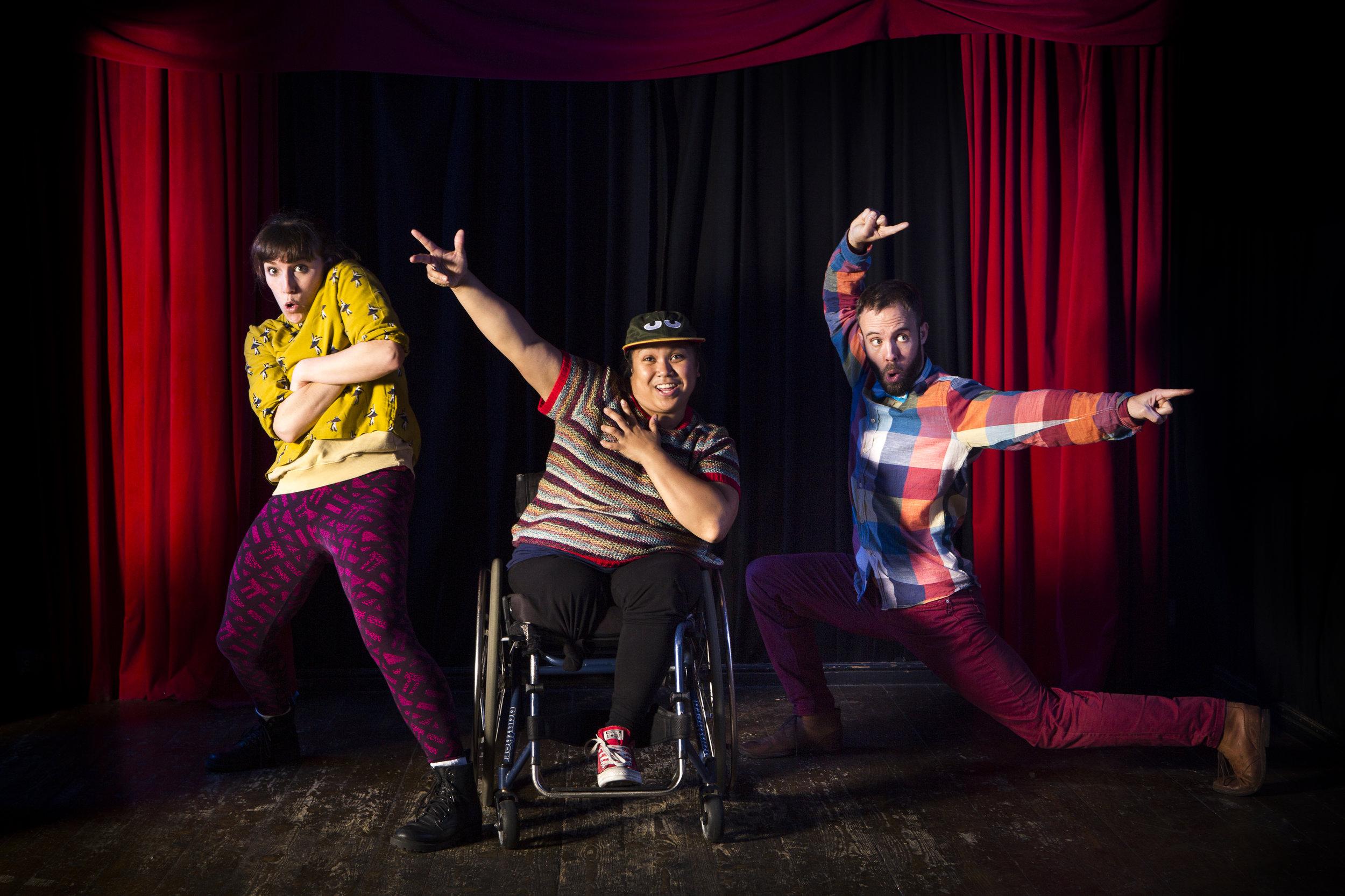Claire Lambert, Laura Dajao and Matthew Winston in Night at the Theatre (Image Alicia Clarke).jpg