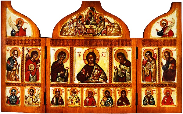 Triptych with Deisis with Family Saints .jpg
