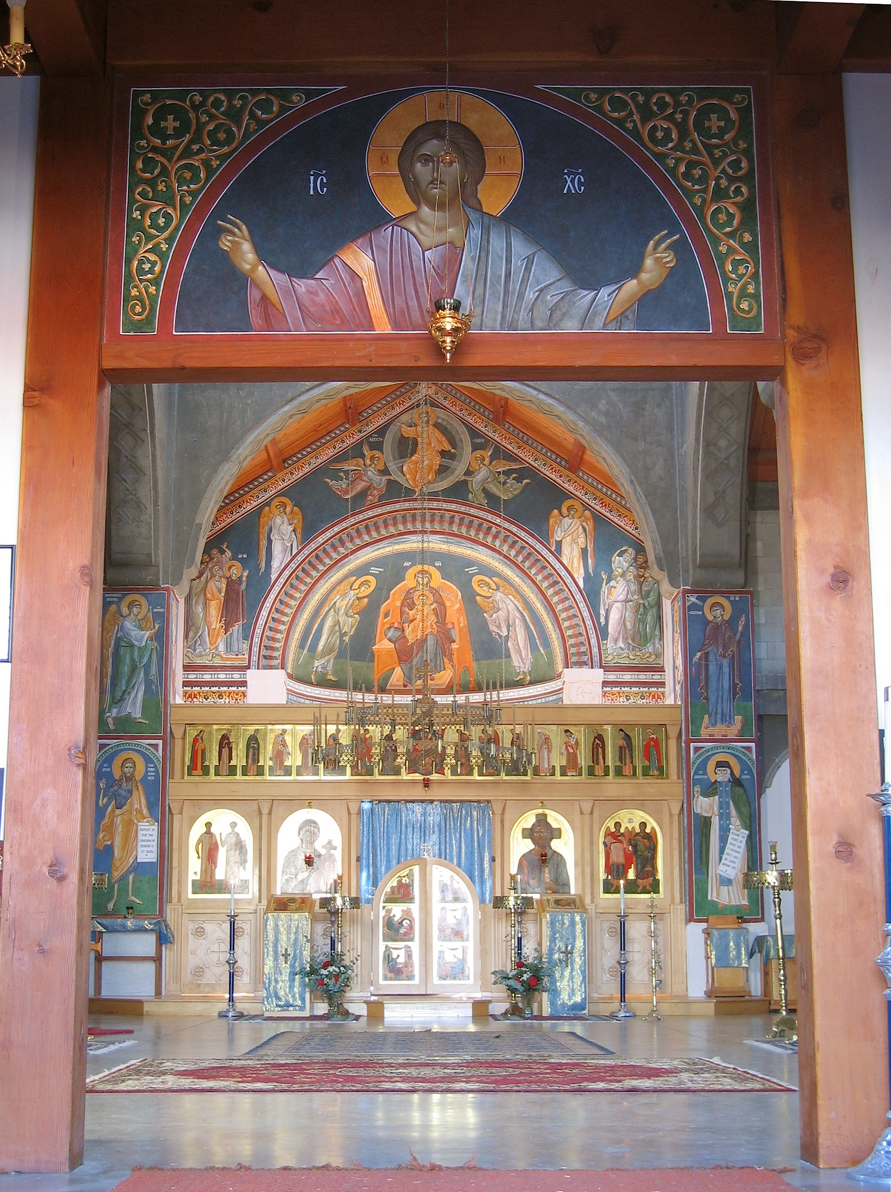 Fig 9.  View of the church from the narthex.