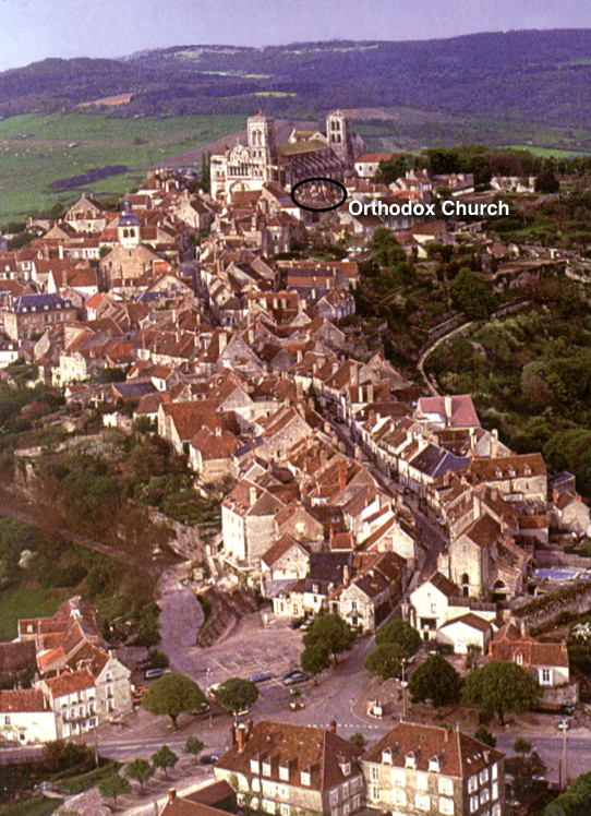 Location of the Church in Vezelay