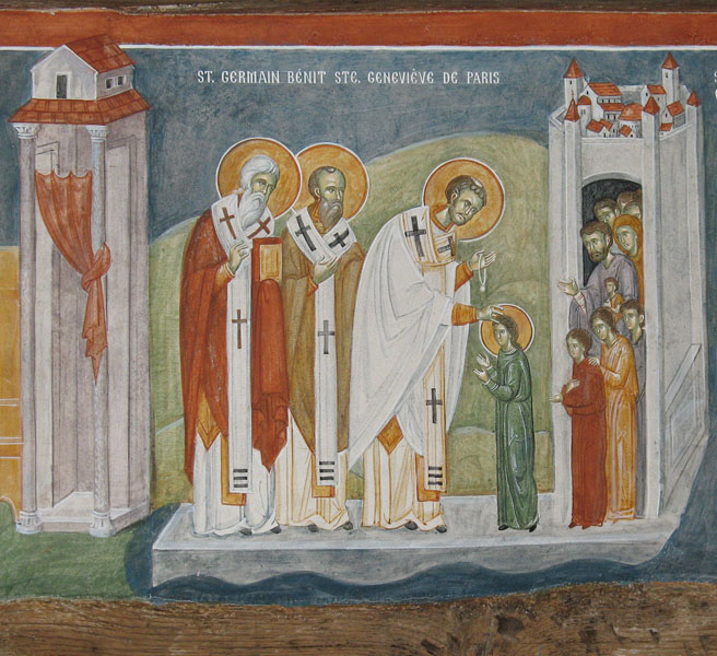 08 St Germanos Blesses St. Genevieve.-700px.jpg
