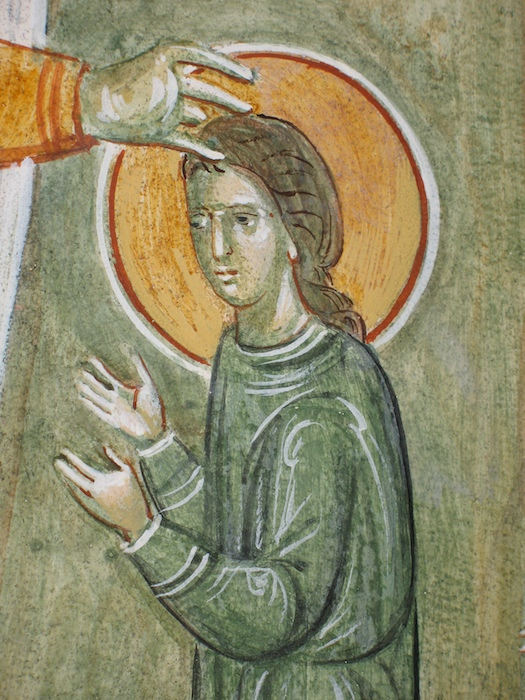 08a St Germanos blesses St Genevieve 700 detail.jpg
