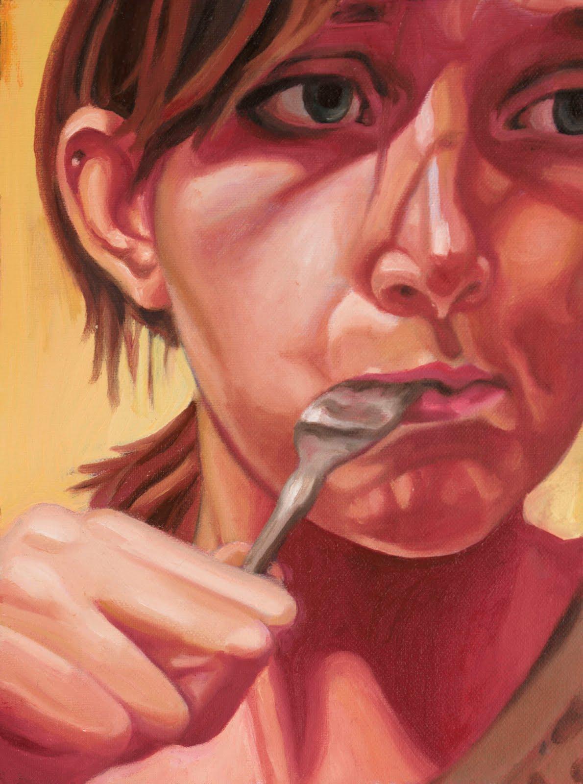 """Self Portrait""  Oil on Canvas  8.5"" x11"""