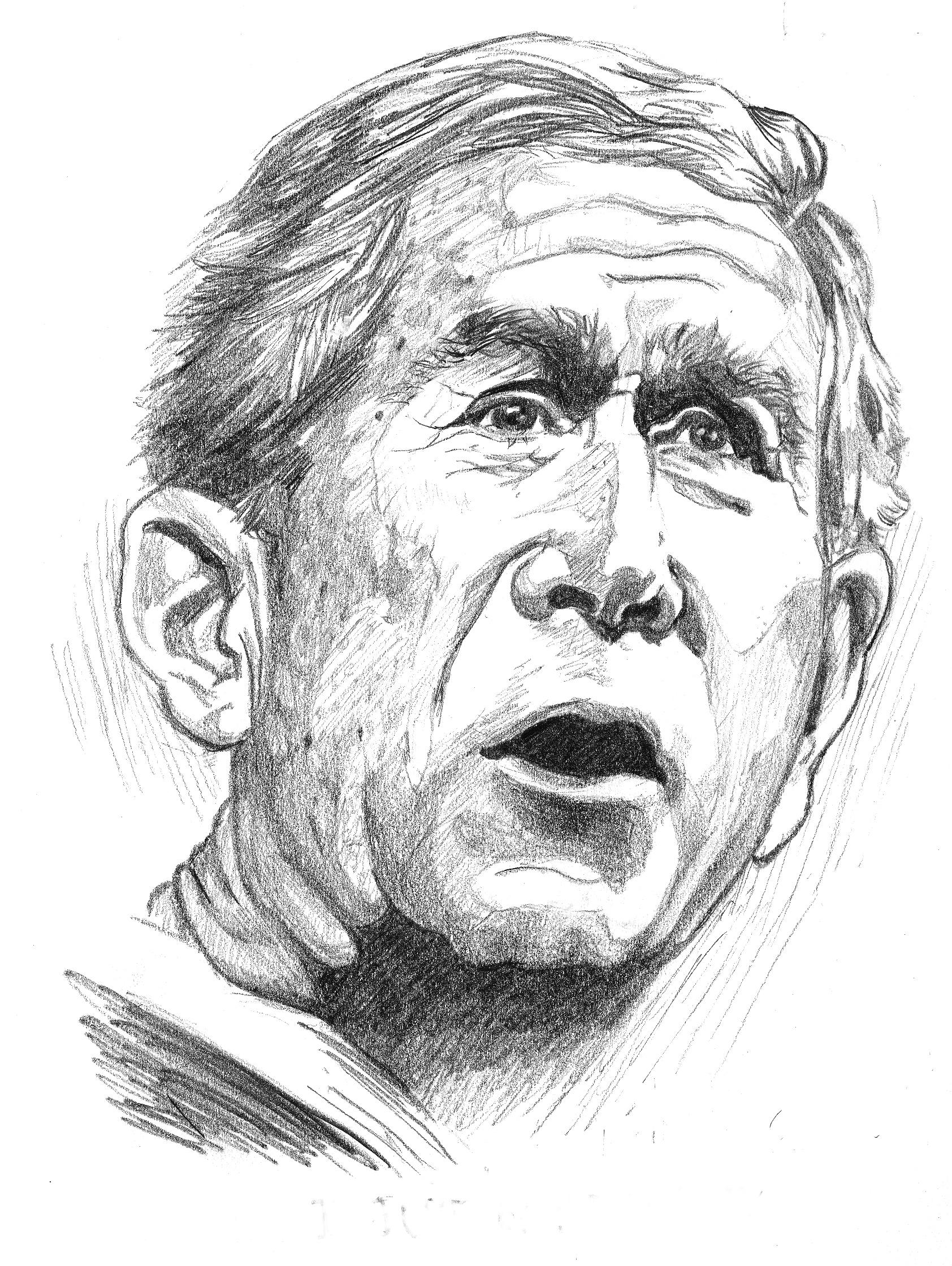 """Bush Caricature""   Pencil on Paper"