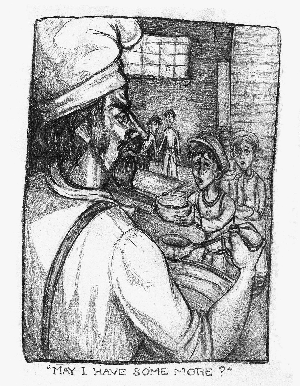 """Oliver Twist : Chapter 2 Illustration""   Pencil on Paper"