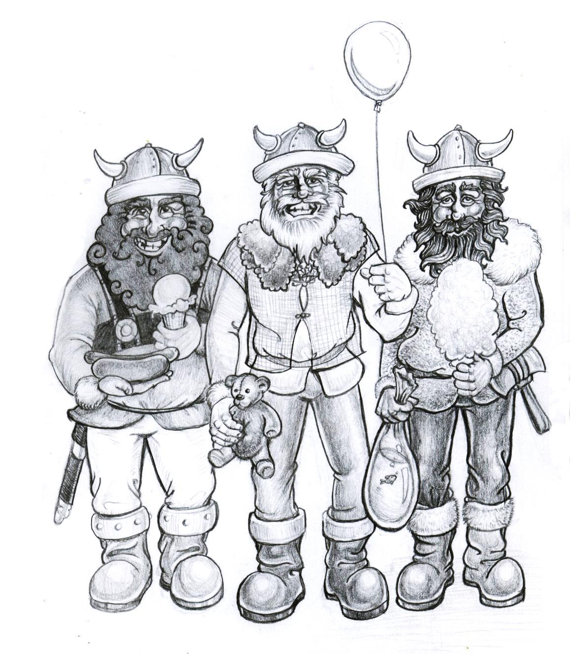 """Vikingfest Illustration""  Pencil on Paper"