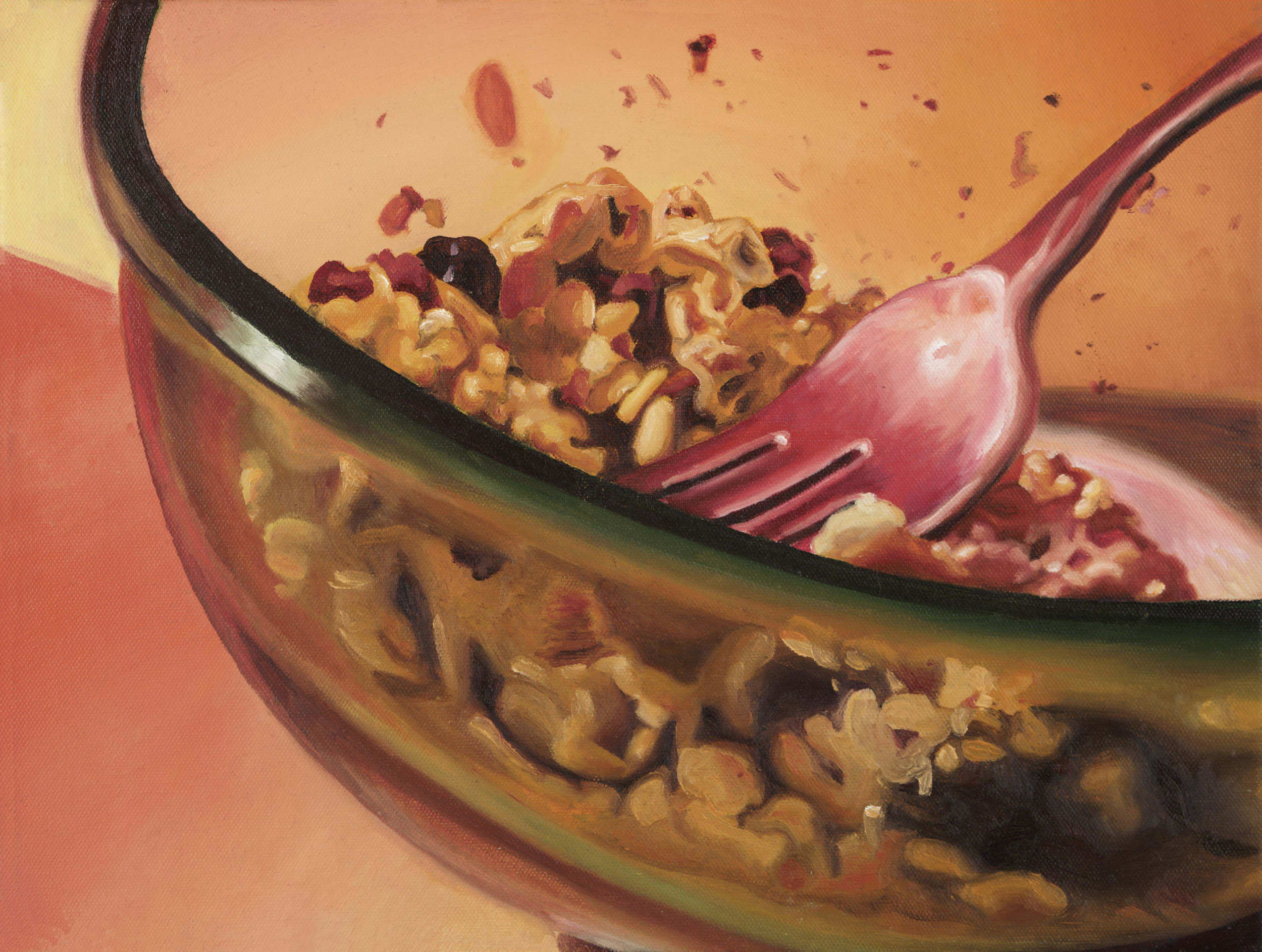 """""""Cereal Bowl""""   Oil on Canvas   11"""" x 17"""""""