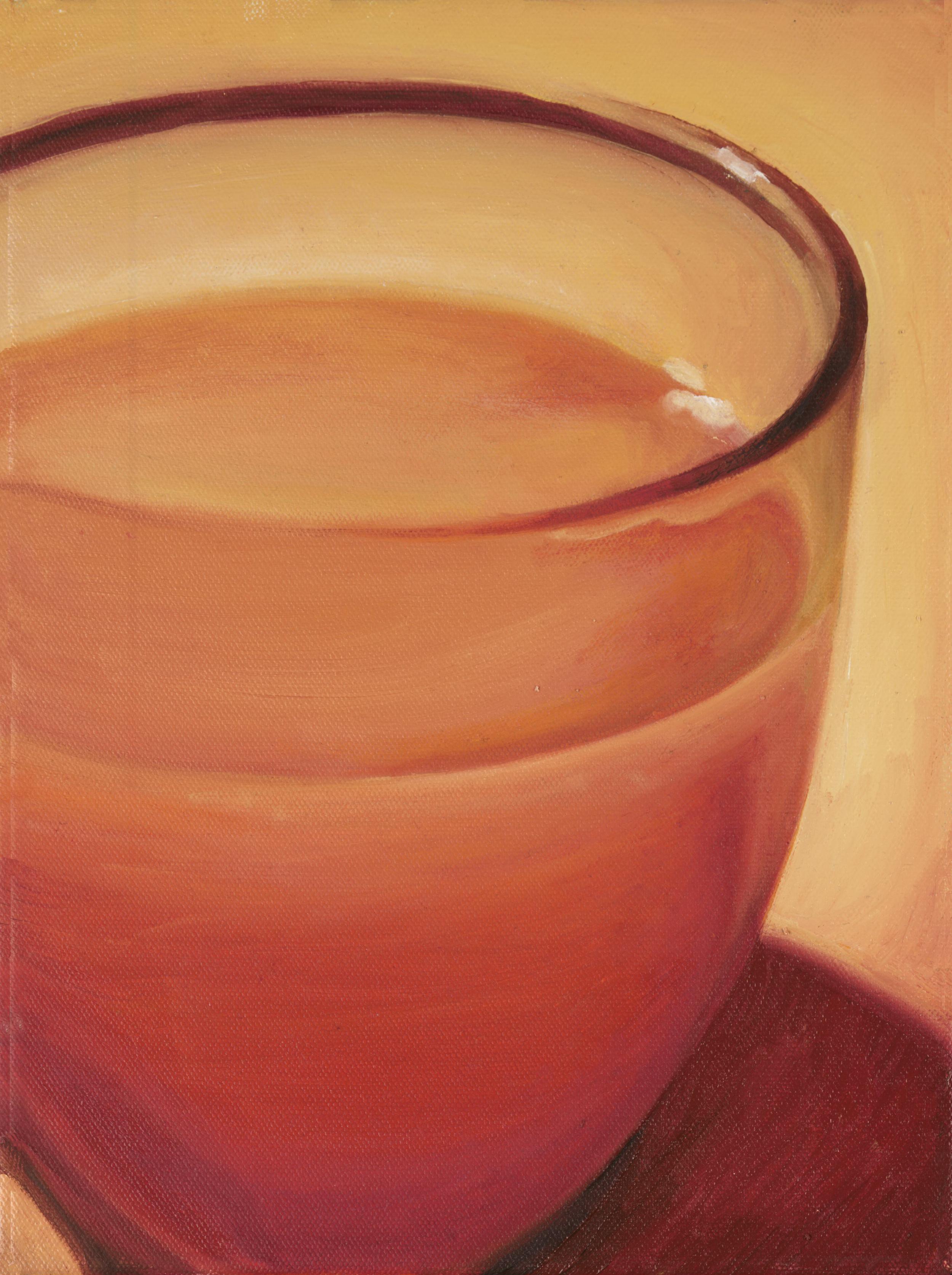 """Orange Juice""   Oil on Canvas  8.5"" x11"""
