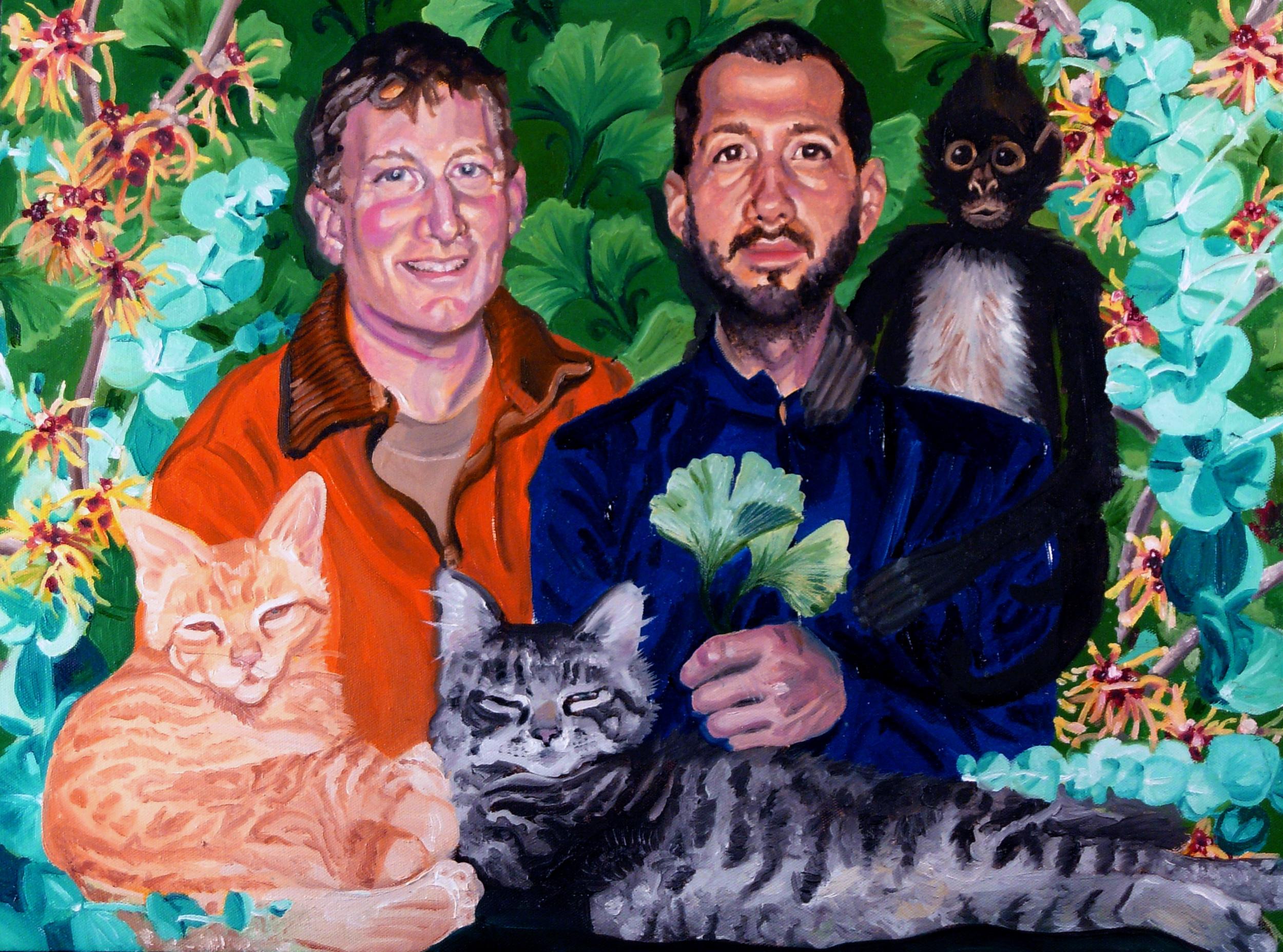 """Portrait of Dawson & Jeffery""   Oil on Canvas  24"" x 36"""