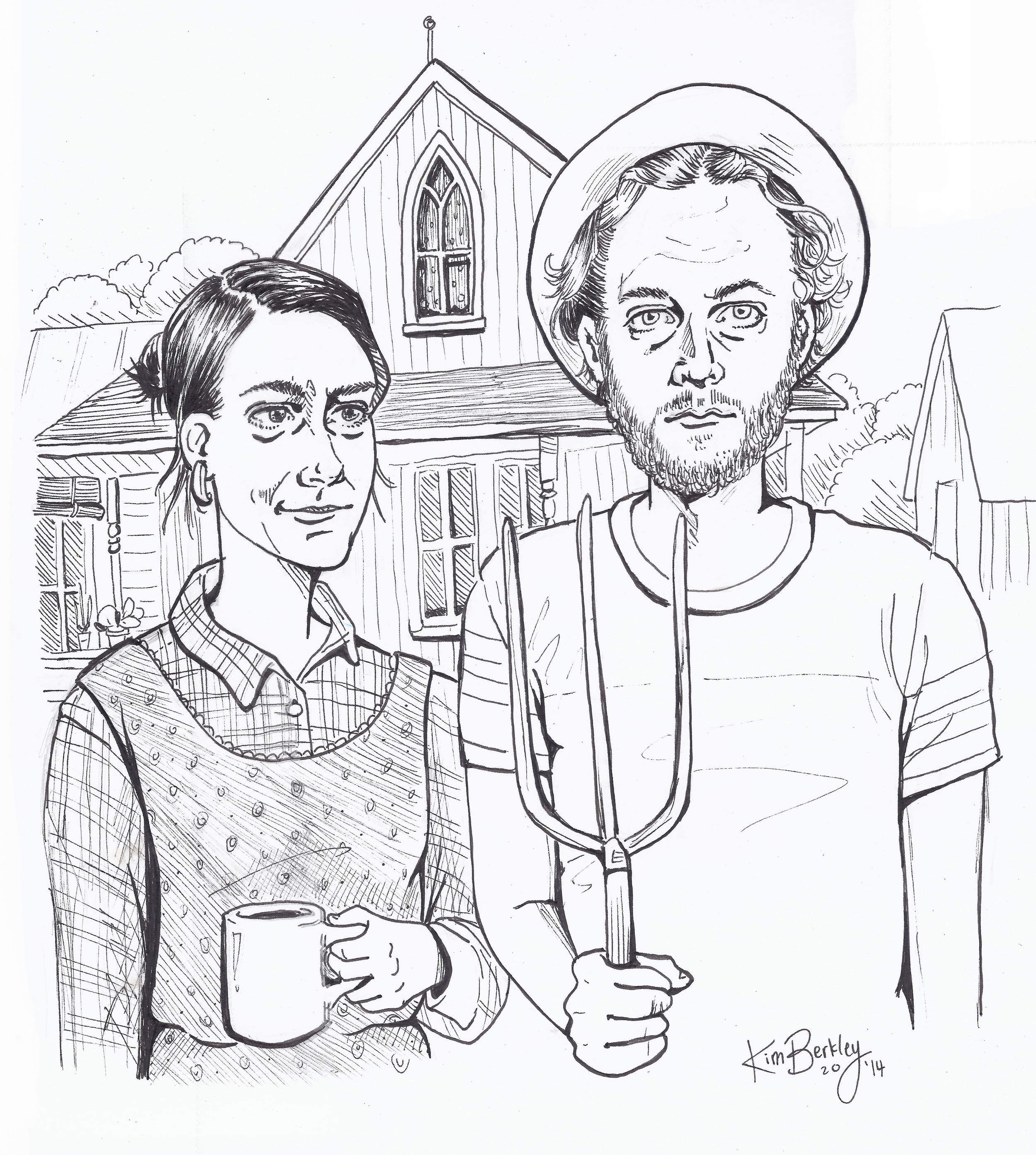 """""""Portland Gothic """" Commission Work - Ink on Paper"""