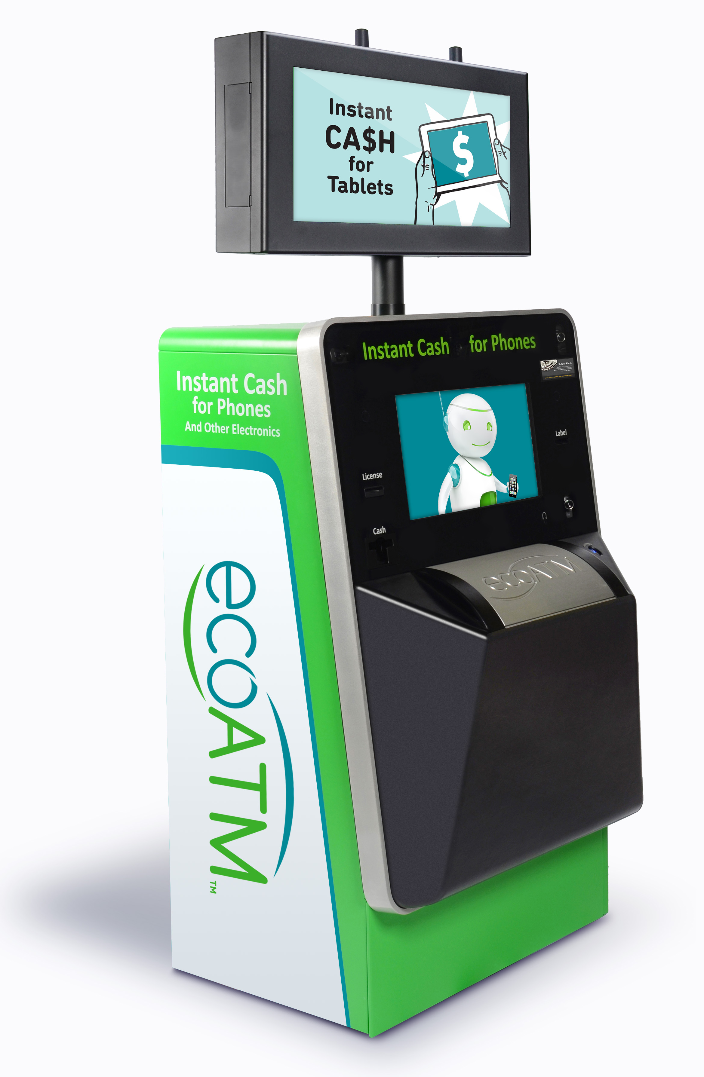 Mockup of Animation on Kiosk display