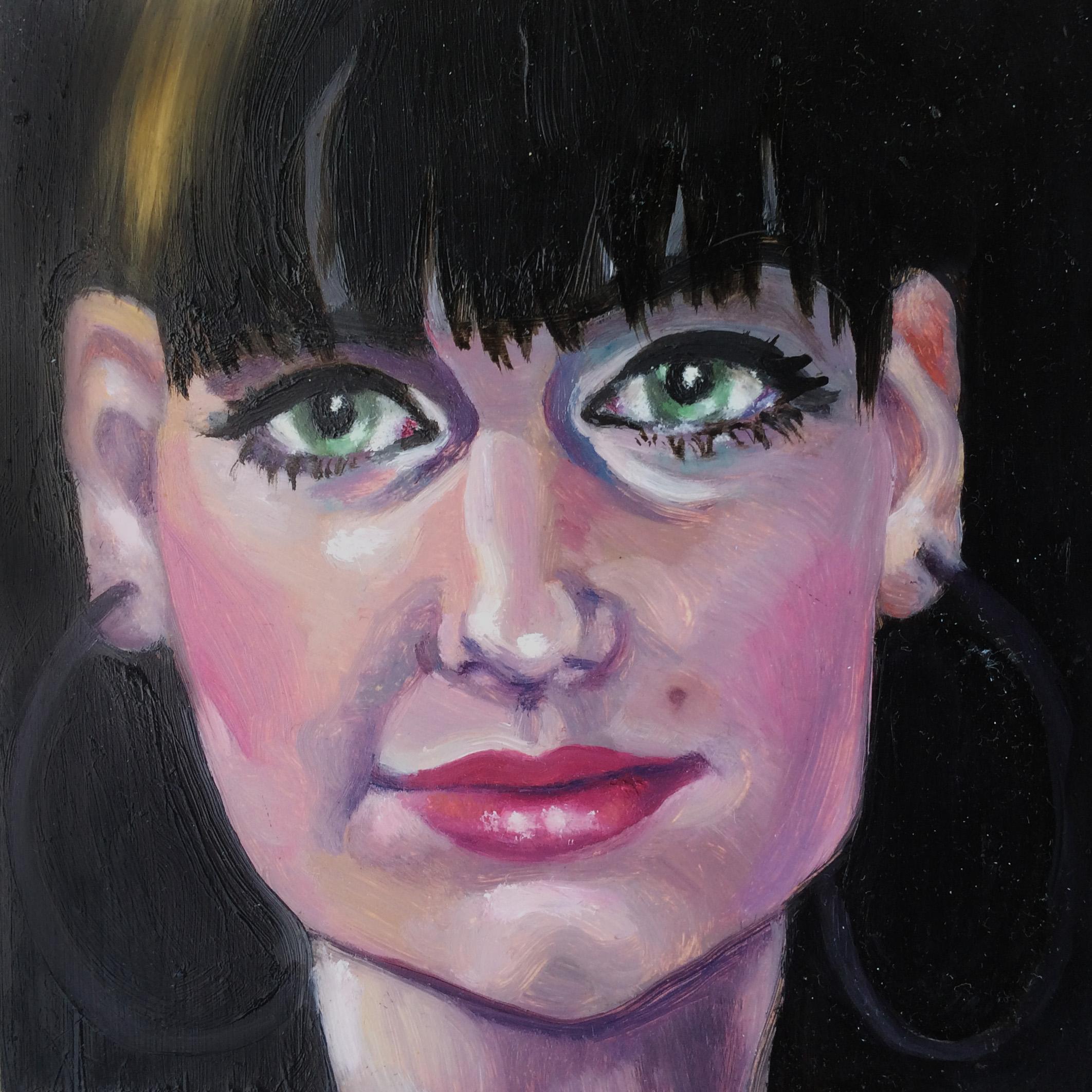 """Portrait Study of Alex""  Oil on Hardboard Wood Panel  6"" x 6"""