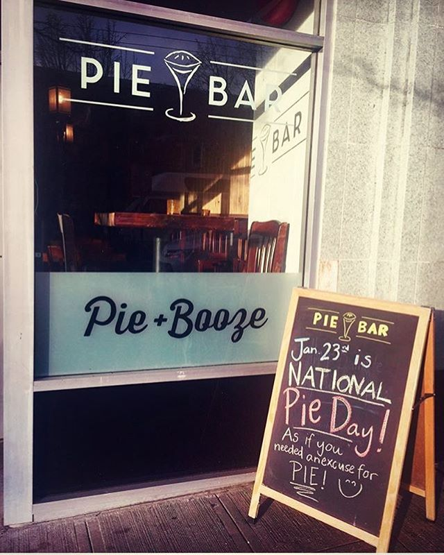 Regram from @piebarballard featuring #ladieswholetter window art collaboration in honor of Pie day!