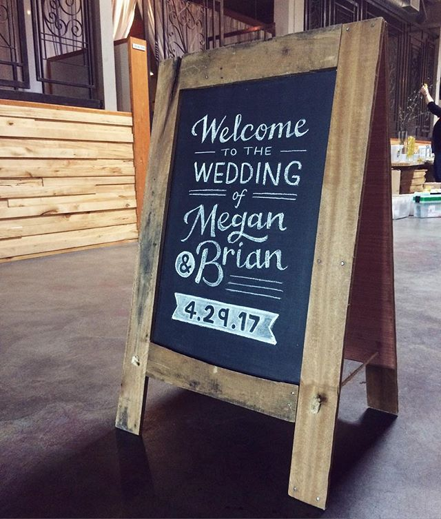 Welcome sign #meganandbrianwedding  #chalksign
