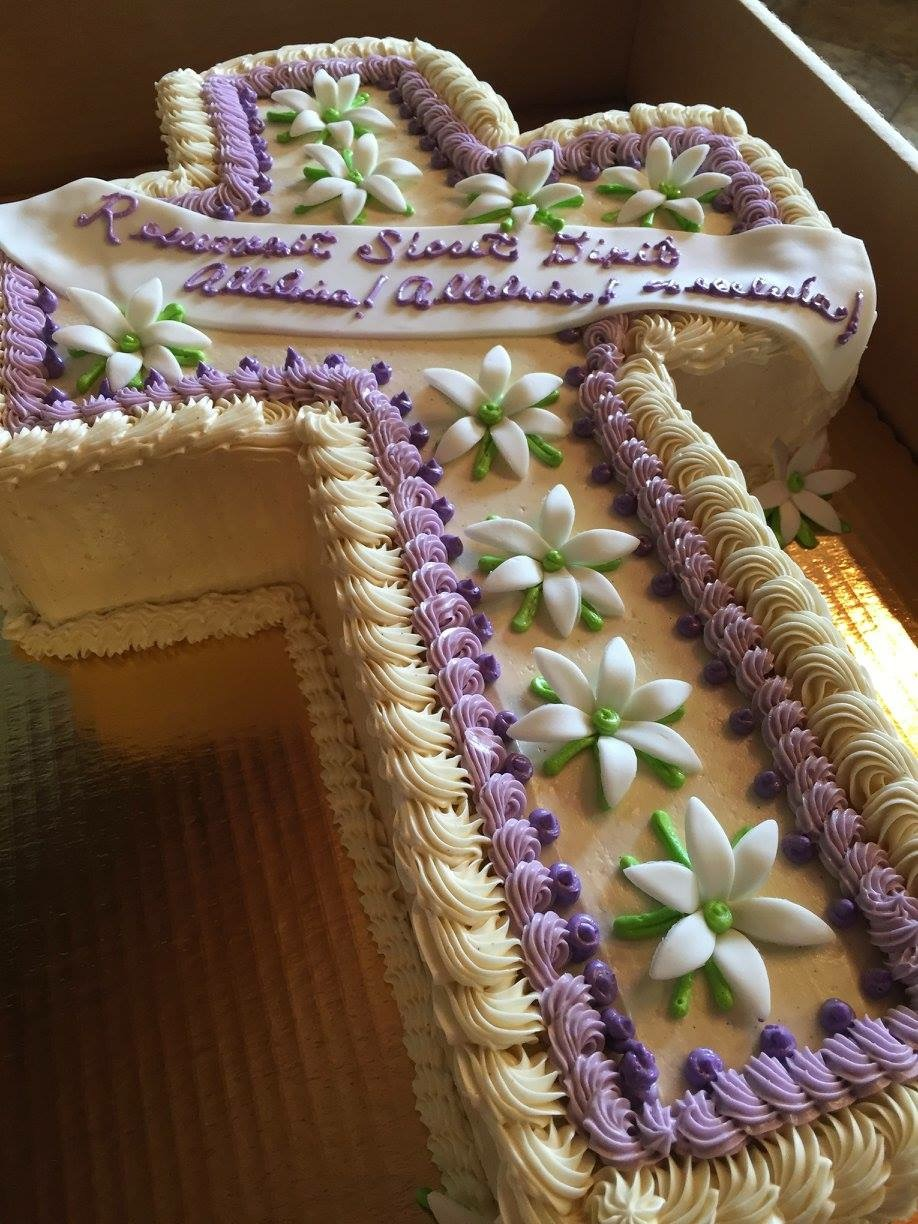 cake baptism cross