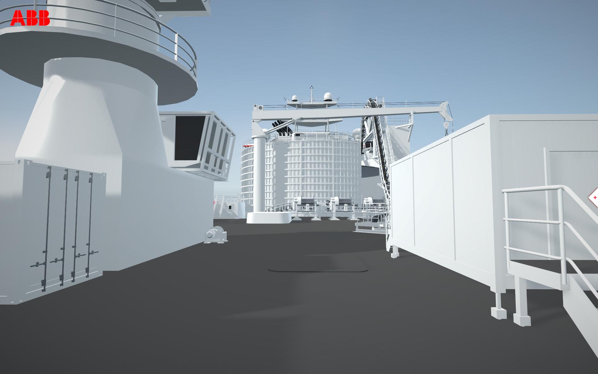Free walk of deck area