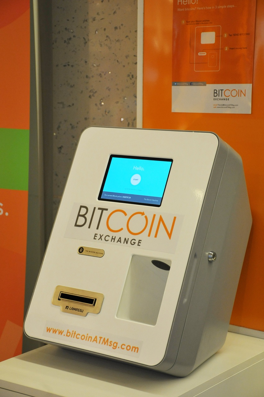 Our beautiful Bitcoin machine standing at CityLink Mall