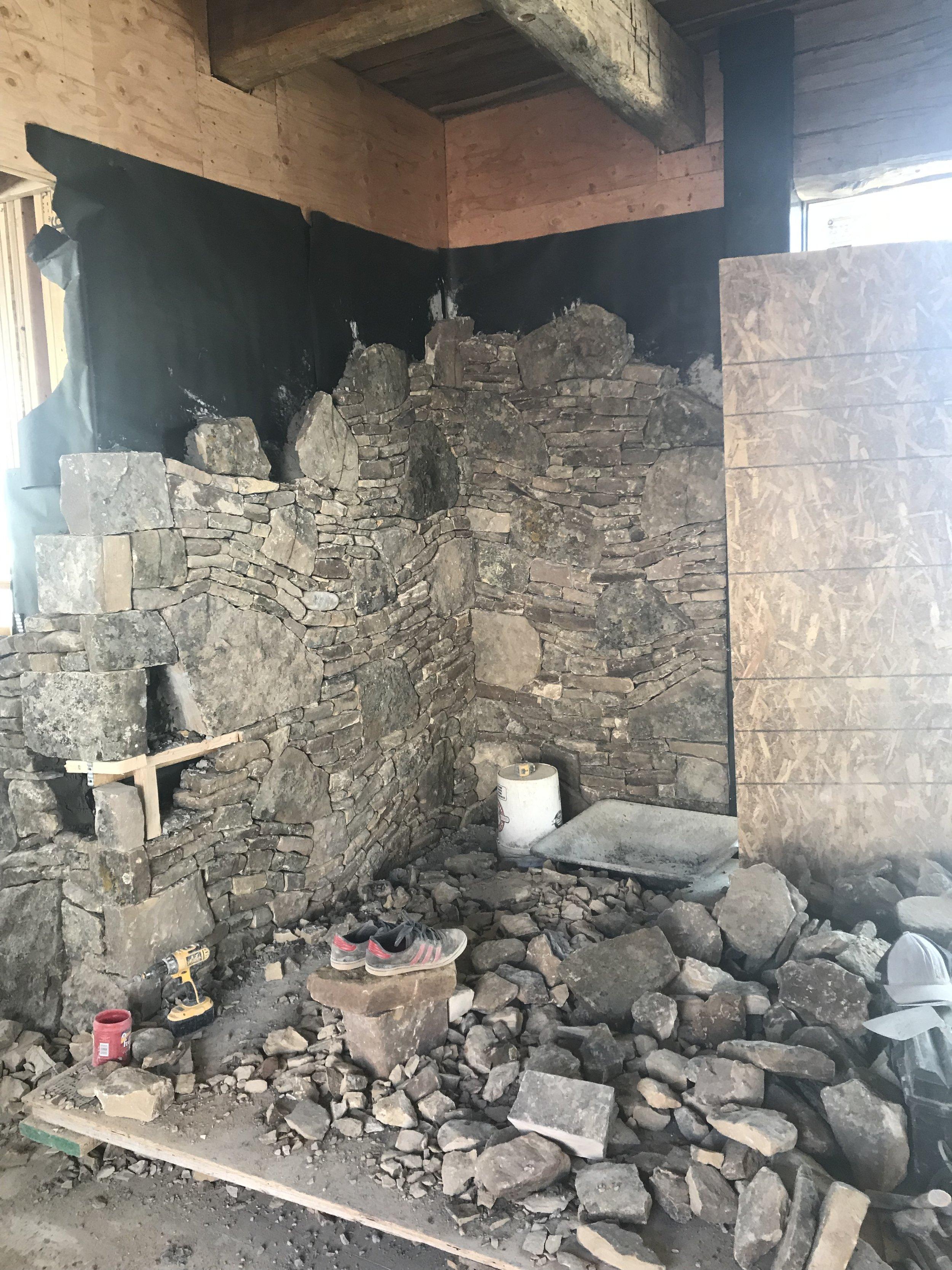 Yellowstone Club Montana Custom Home Design Stone Wall.jpg