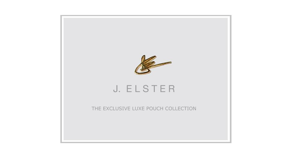 J. ELSTER - Exclusive Luxe Pouch Collection - 2015 cover.jpg