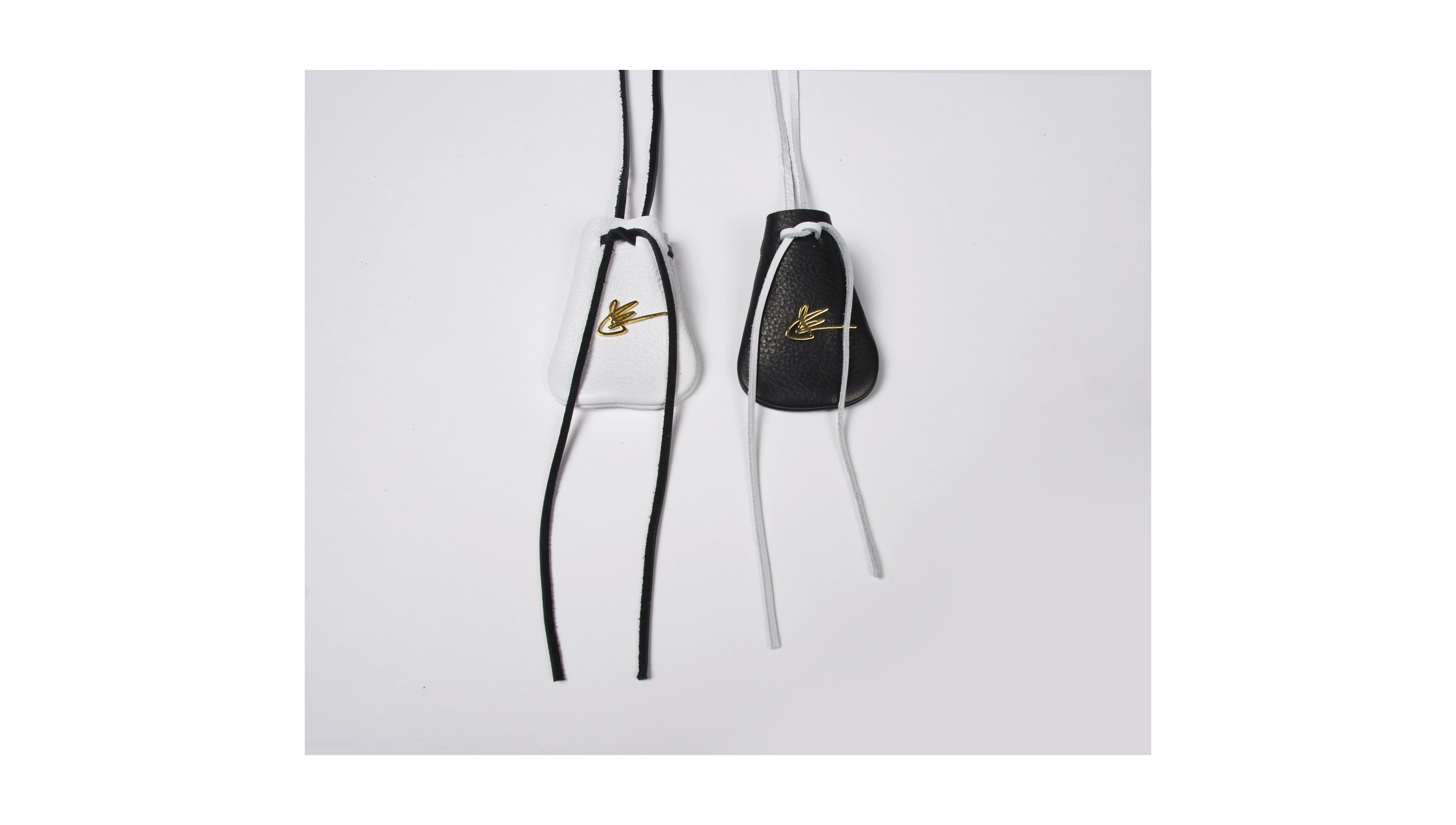THE POUCH MINI with GOLD SIGNATURE