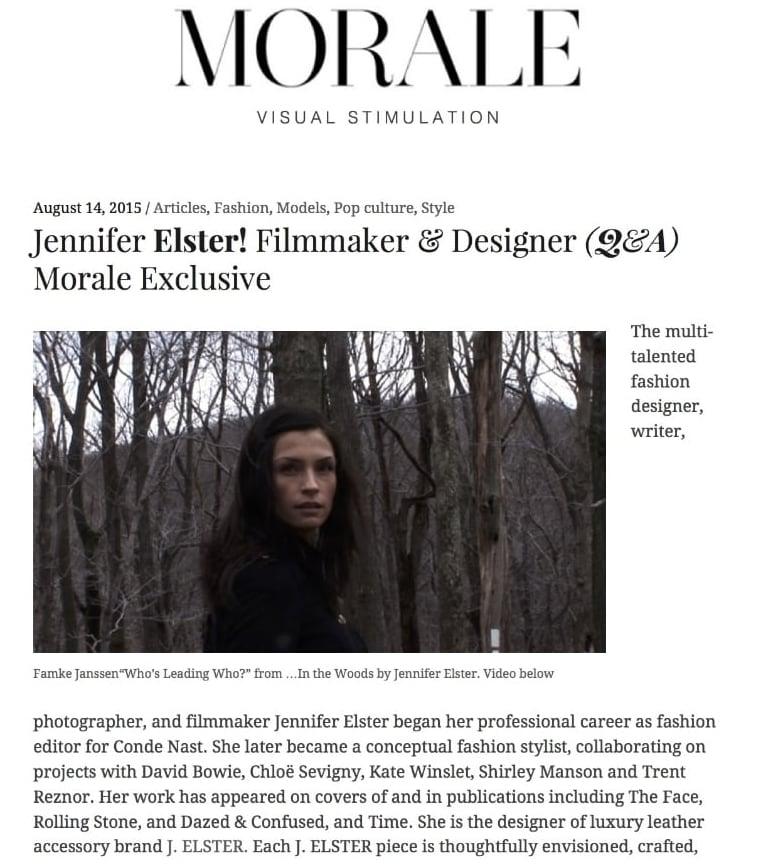 Morale Magazine - Jennifer Elster! Filmmak...Q&A) Morale Exclusive |.jpg