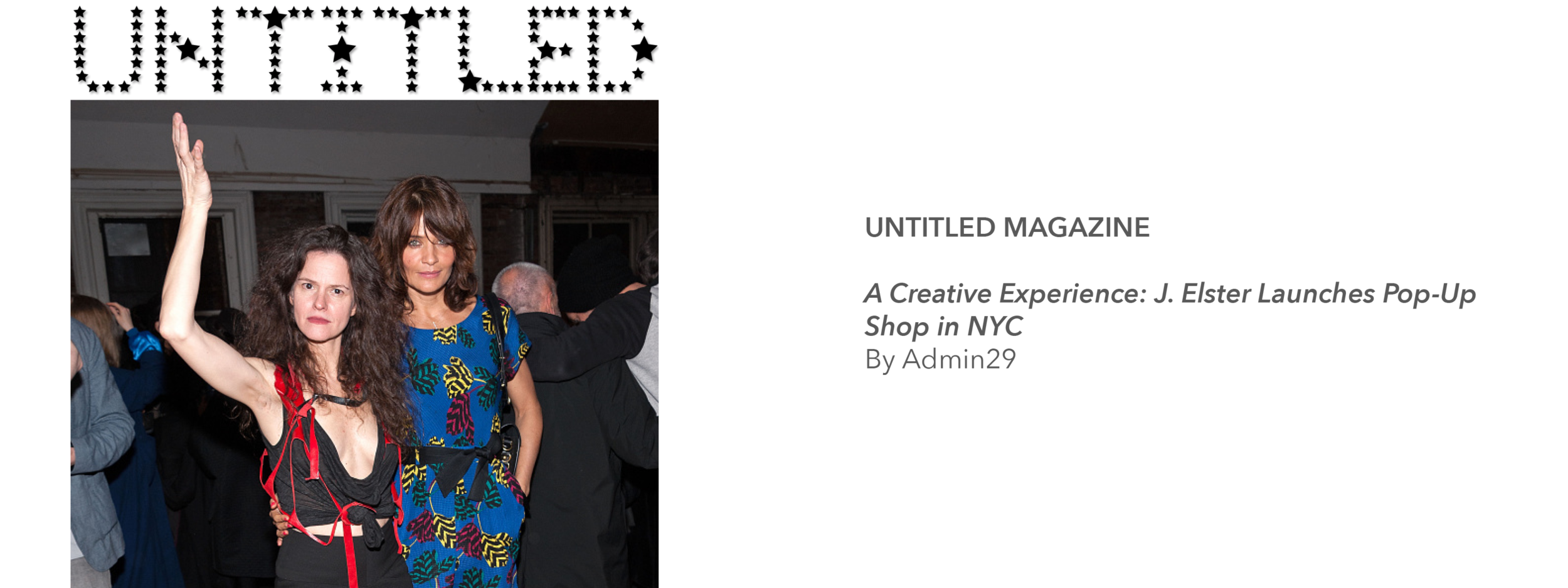 Untitled Magazine - Jennifer Elster J. ELSTER