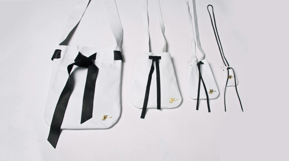 The Pouch Collection in White and Black - J Elster