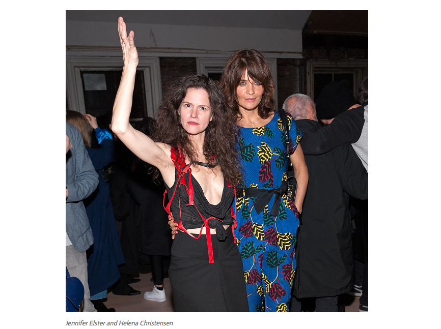 Jennifer Elster and Helena Christensen - J Elster NYC
