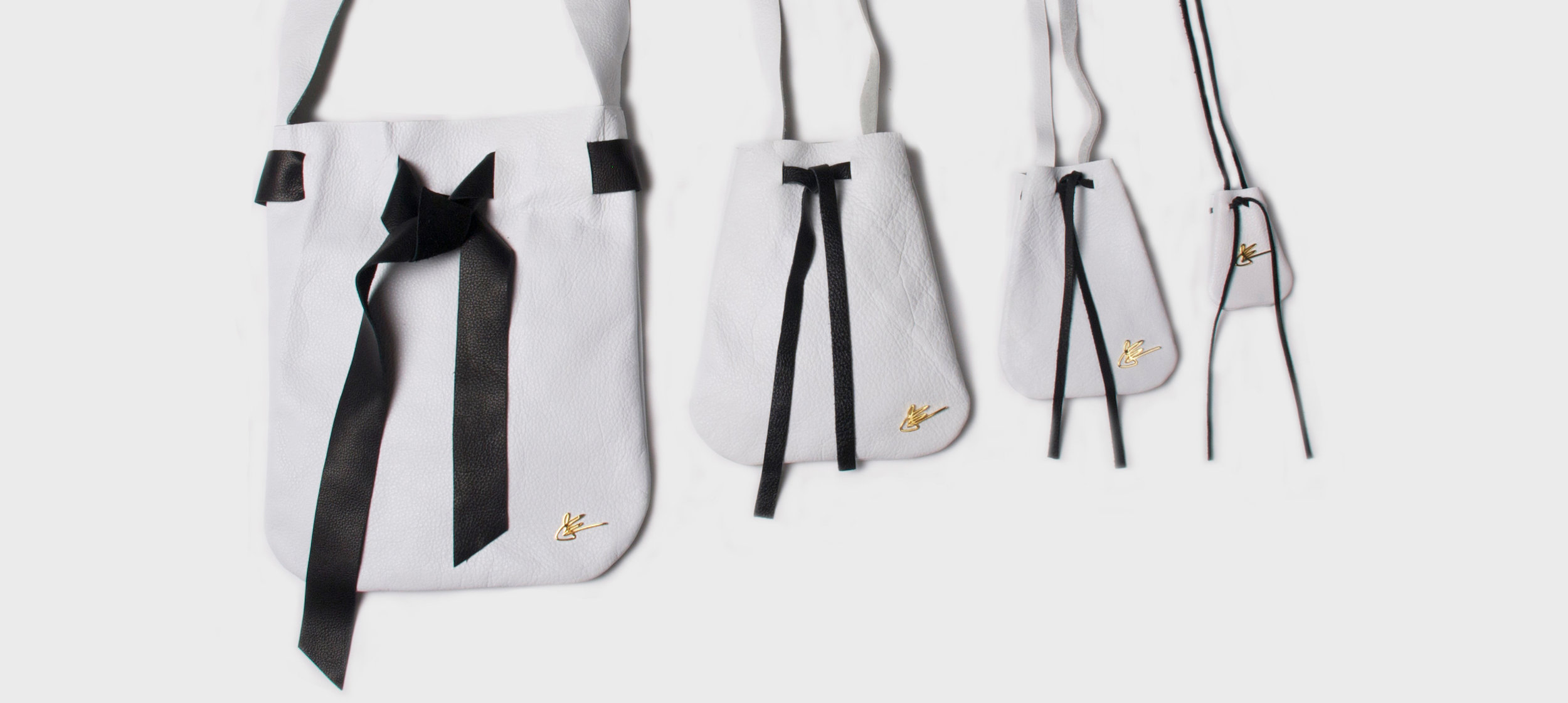 The Pouch Collection Full Set in White and Black