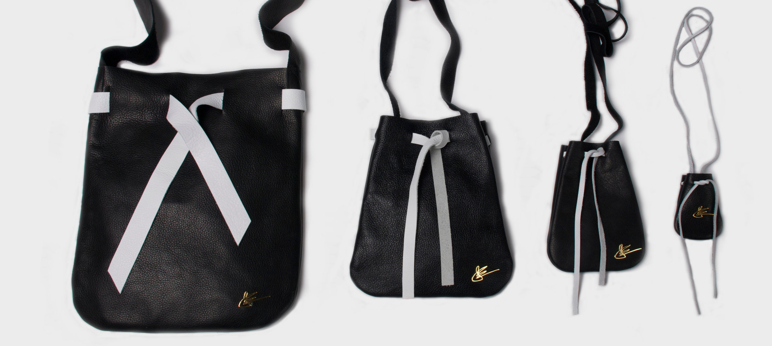 The Pouch Collection in Black and White  $1900.00