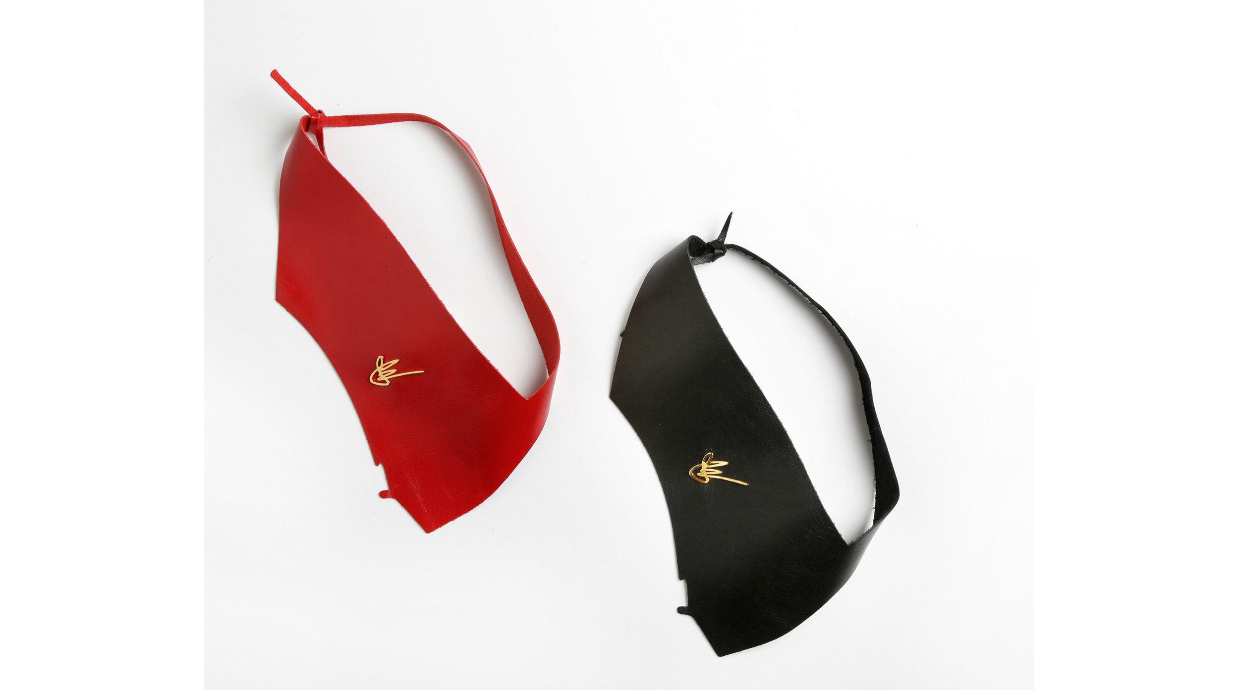 Love Collection Pouch Mask Red Black JElster NYC Neck Slash neckpiece