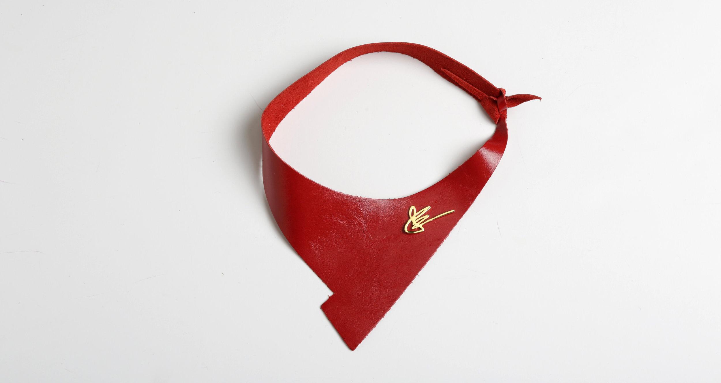 The Shazam Neckpiece in Red   $295-345