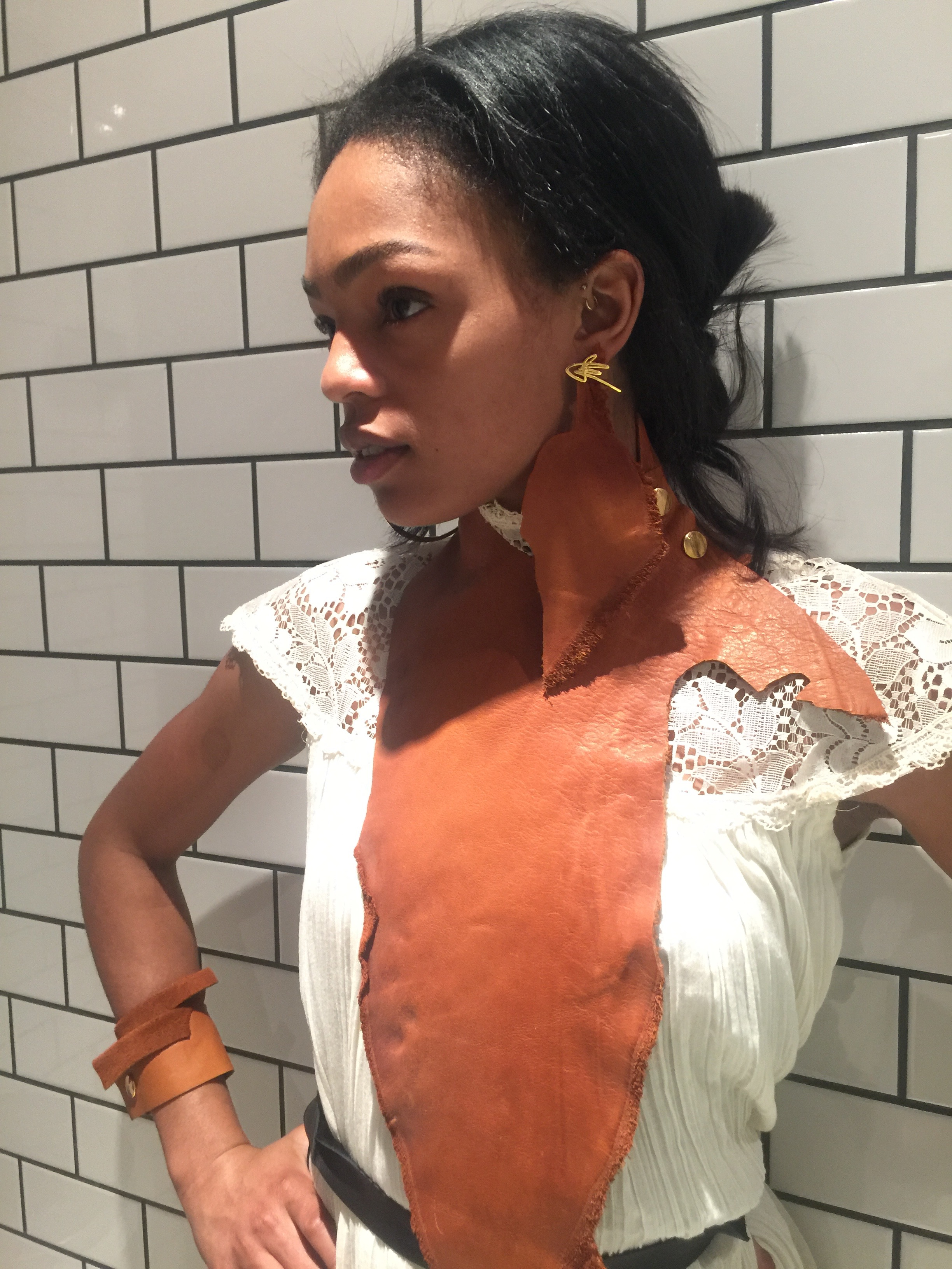 J.Elster The Jagged Folded Cuff in Natural on Selah Marley