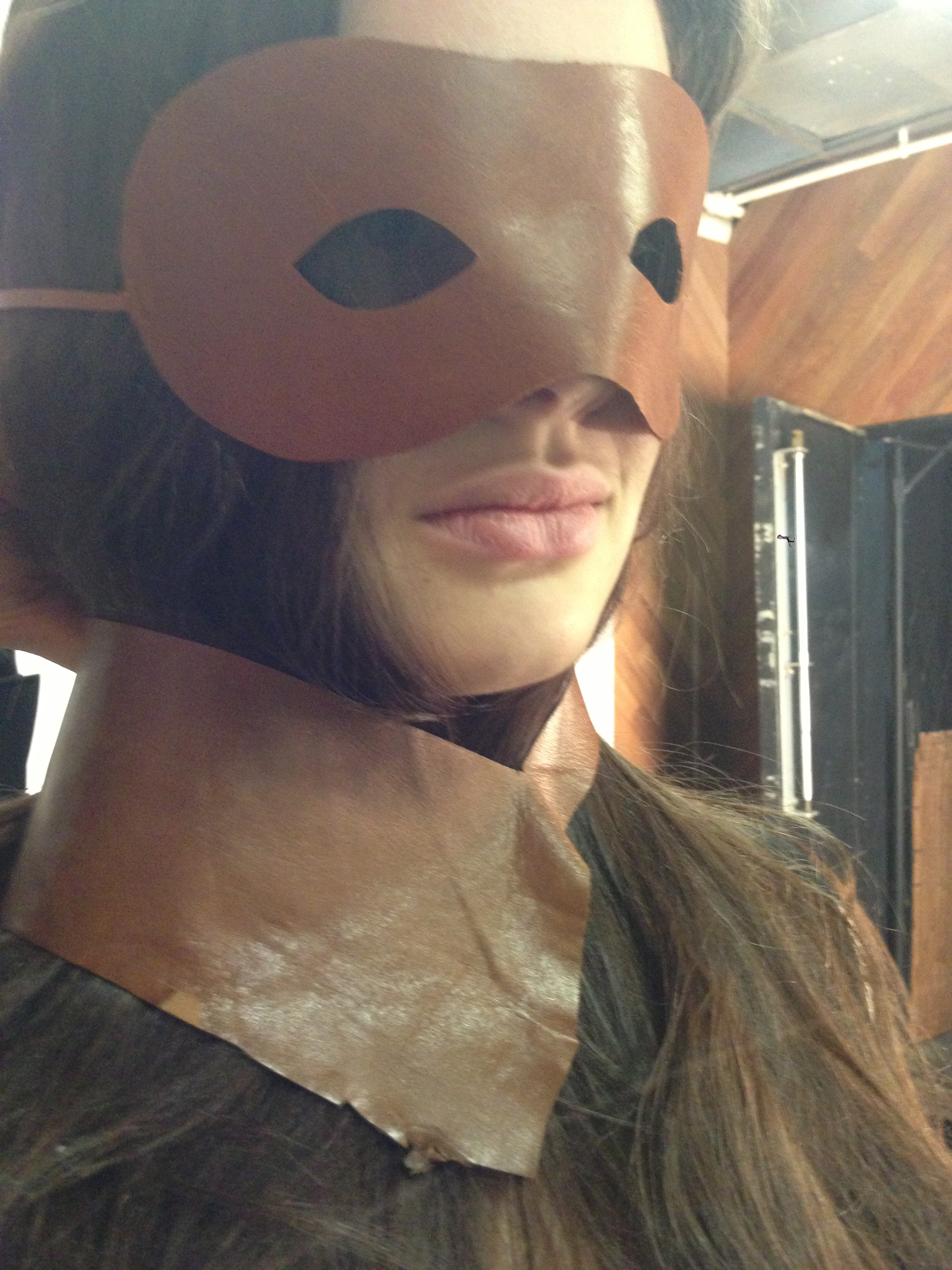 J.Elster Jennifer Elster The Raw Collection Raw Luxury Handmade in NYC J.Elster NYC Jelster Leather The Mask in Natural on Caroline Day