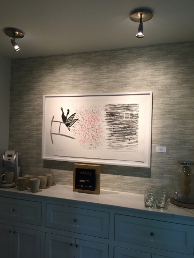 Artisan Home # 9.  Builder: Great Neighborhood Homes, Interior Design: Great Neighborhood Homes, At Home, Que Sera, The Sitting Room, Great Neighborhood Interiors. Artwork by James Rosenquist. Address: 5115 Wooddale Glen, Edina, MN 55424