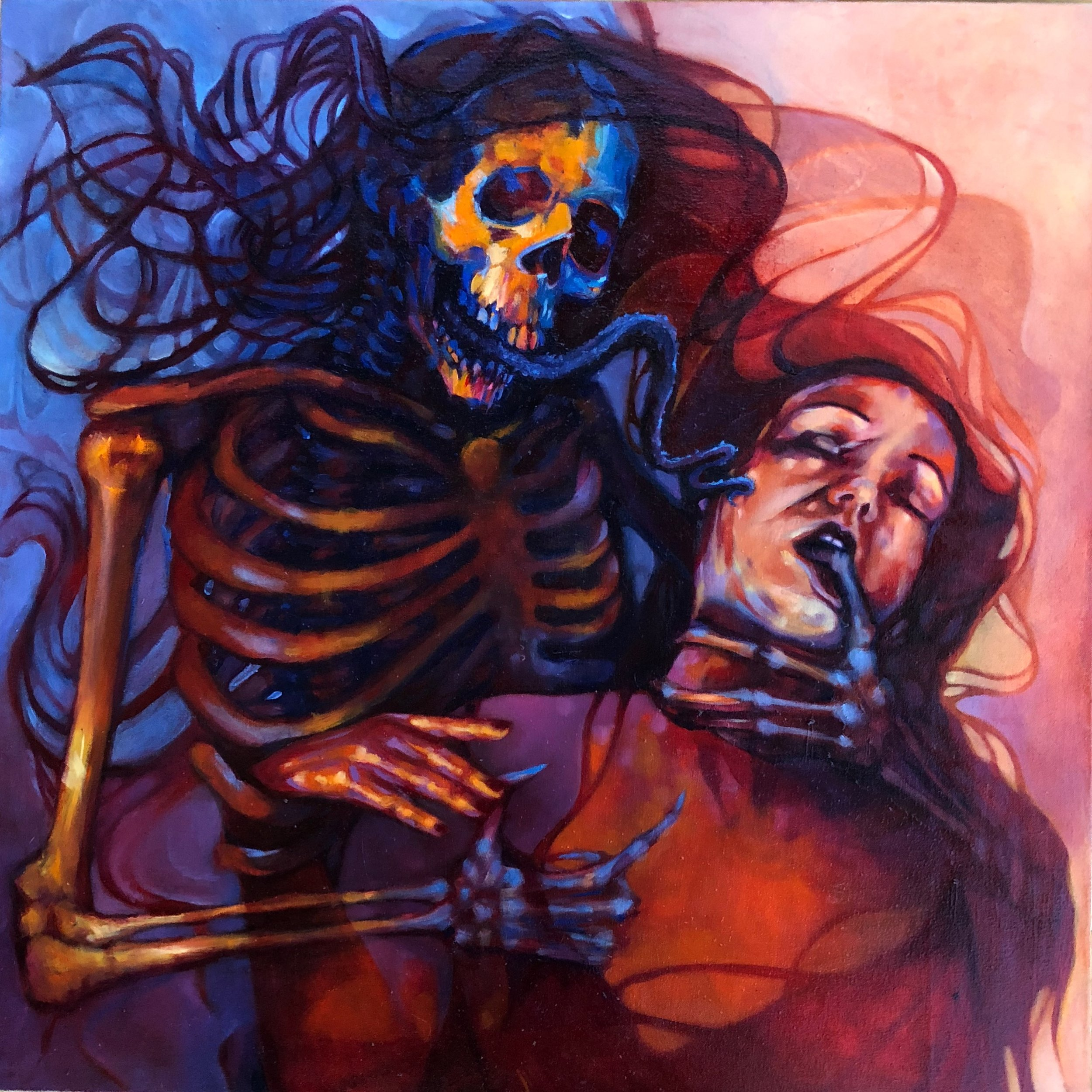 love and death, 2019, oil on canvas