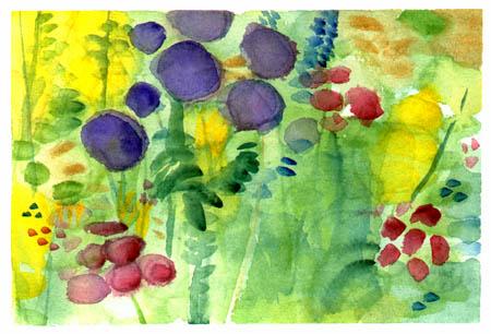 Old Westbury Gardens Watercolor Sketch