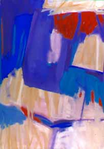 Abstraction with Blue and Red
