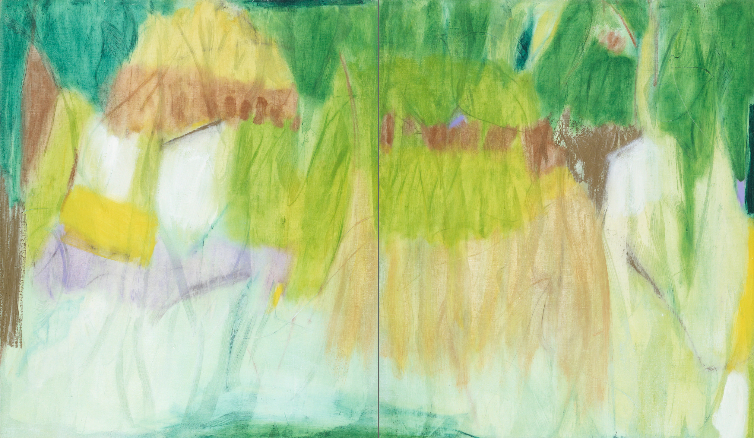 Abstract Impression I (diptych)