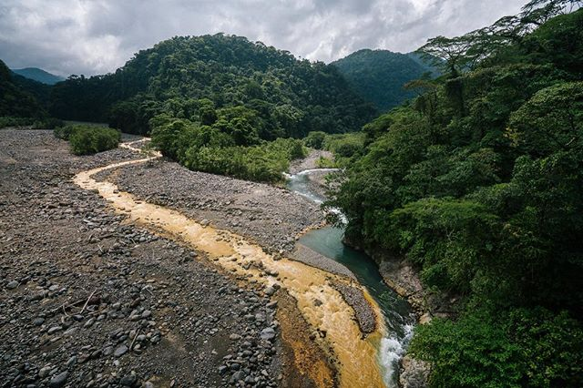 Insert the sound of howler monkeys, the smell of rain... and the wind from cars flying by inches behind me on the two lane bridge I walked out on to shoot this. 🙊💦💨 #worthit #puravida . I'M IN COSTA RICA, BABY!