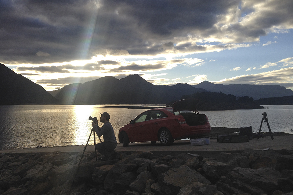 Shooting the sunset over Lake Burbury in the Princess River Conservation Area.