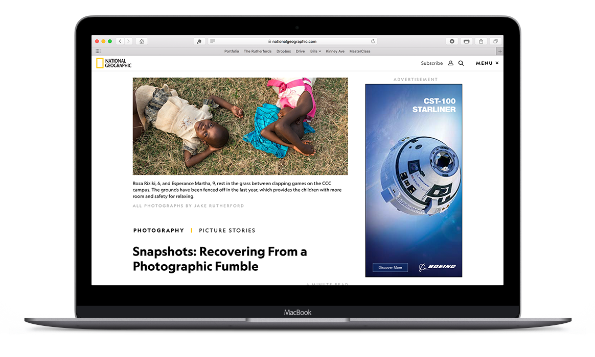 Snapshots: Recovering From a Photographic Fumble  published on the  National Geographic  photography blog 'Proof', featuring photographs and a retelling of my experience from the assignment.