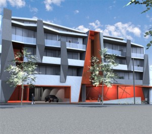 Recently approved building at 20-28 Napier Street Essendon.  G2 Urban Planning .