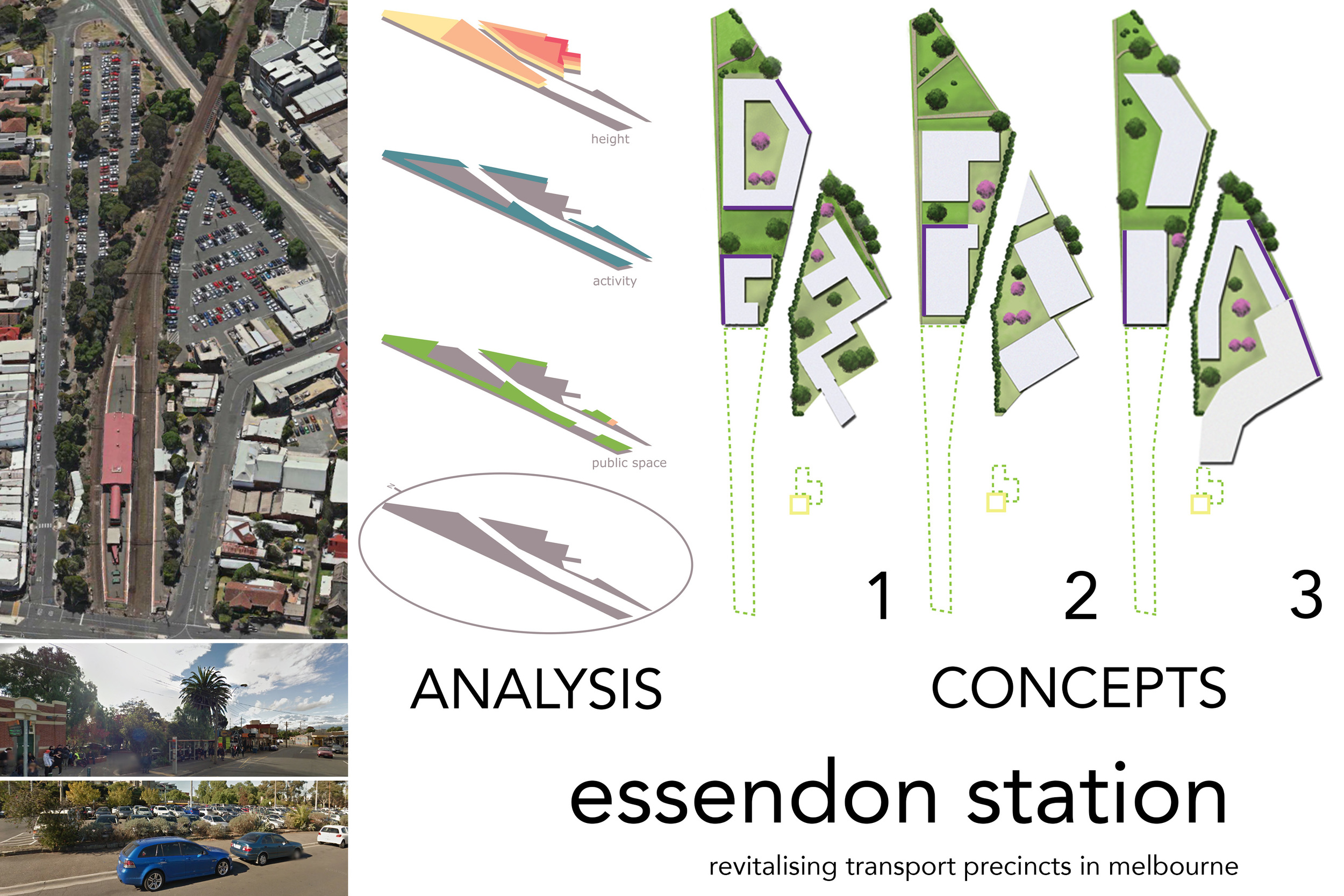Essendon Station revitalization study by drawntocities.com